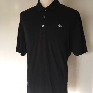 Lacoste SZ 9 Black Cotton Short Sleeves Polo Shirt
